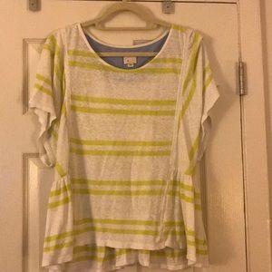 Anthropologie Green Stripe Shirt